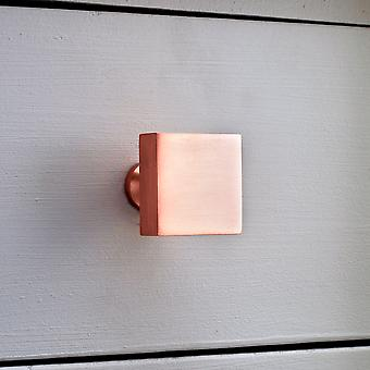 Brushed Brass Square Copper Cupboard Door Knobs