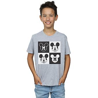 Disney Boys Mickey Mouse Smiling Squares T-Shirt