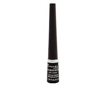 Rimmel London Exaggerate Liquid Eye Liner #001-black For Women