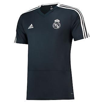 2018-2019 Real Madrid Adidas Trainingsshirt (dunkelgrau)