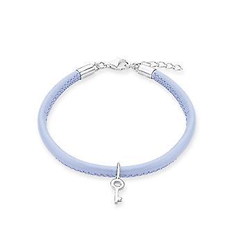 s.Oliver juweel kinderen en adolescenten armband zilver leer sleutel 2012806