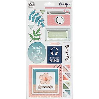 Be You Chipboard Stickers 5.5