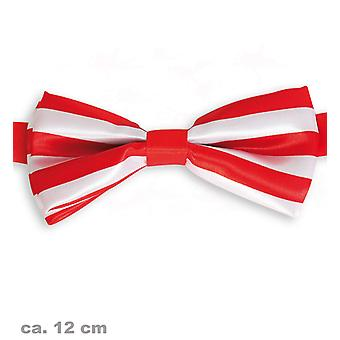 Bow bow tie red/white Cologne clown accessory 12cm Jeck