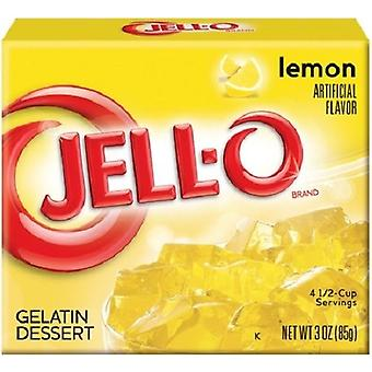Jell-O Lemon Instant Jello Gelatin Mix 3 oz Box
