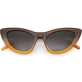 Oversize Translucent Gradient Cat Eye Sunglasses Neutral Colored Lens 49mm