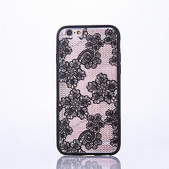 Mandala mobile caso per Apple iPhone 6 / 6s design Custodia motivo fiori coperchio paraurti nero