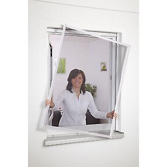 Aluminium venster Kit vlieg mesh insect-bescherming 100 x 120 cm bruin