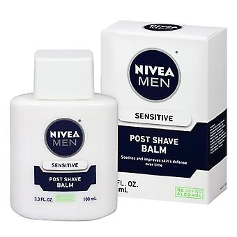 Nivea men post balsamo dopobarba, sensibile, 3,3 oz