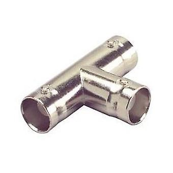 BNC Female, Female, Female T-Adapter - Silver