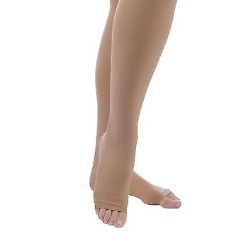 Pebble UK Microfibre Opaque Toeless Compression Thigh Highs [Style P265] Sand  XL