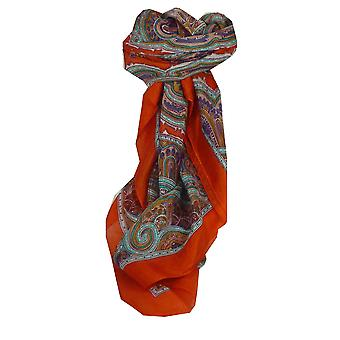 Mulberry silkeskjerf tradisjonelle torget Aylin Terracotta av Pashmina & Silk