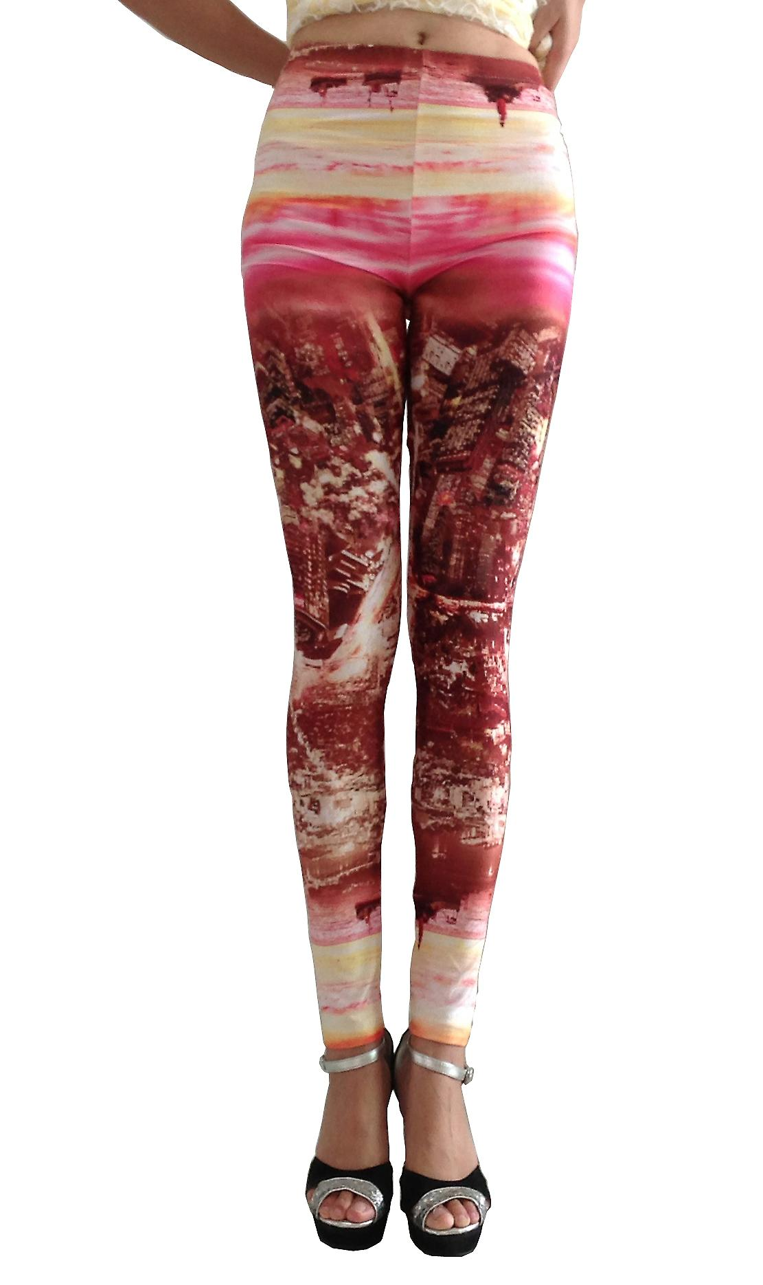 Waooh - Fashion - Leggings Pattern City By Night Una