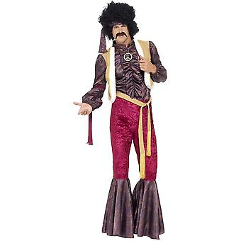 70's Psychedelic Rocker Costume with Flares, Chest 38