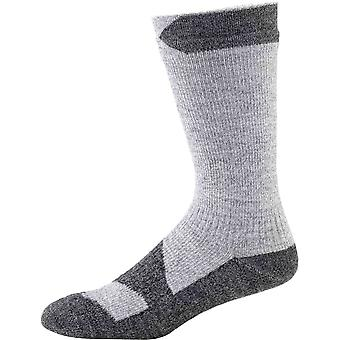 SealSkinz Walking Thin Mid Sock - Grey/Black