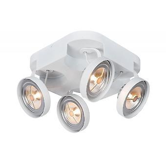 Lucide Versum Ar111 moderno cuadrado aluminio blanca punto de luz de techo