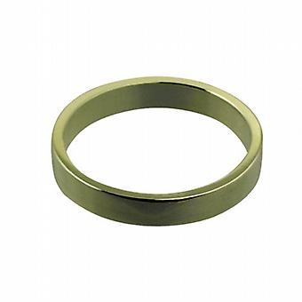 9ct Gold 3mm plain flat Wedding Ring Size I