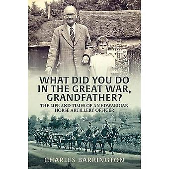 What Did You Do in the Great War, Grandfather?: The Life and Times of an Edwardian Horse Artillery Officer