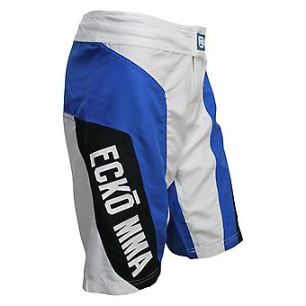 Ecko MMA Mens All Start Fight Shorts - White/Blue/Black