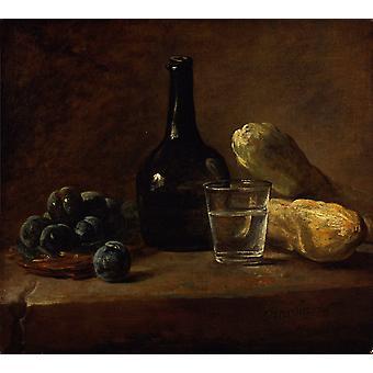 Still Life with Plums, Jean Baptiste Simeon Chardin, 50.8 x 43.2 cm