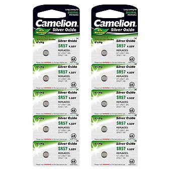 10x Battery SR57 Silver Oxide SG7 G7 395 SR926 Camelion Button Cell Batteries