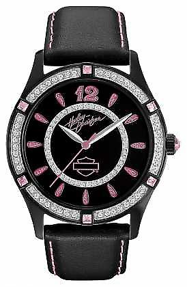 Harley Davidson Black Dial Analogue Display Womens Quartz 78L113 Watch