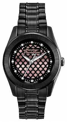 Harley Davidson Black And Rose Womens Gold 78L112 Watch
