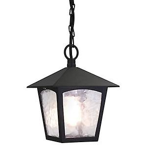 Elstead BL6B BLACK York Traditional Old English Style Outdoor Porch Chain Lantern