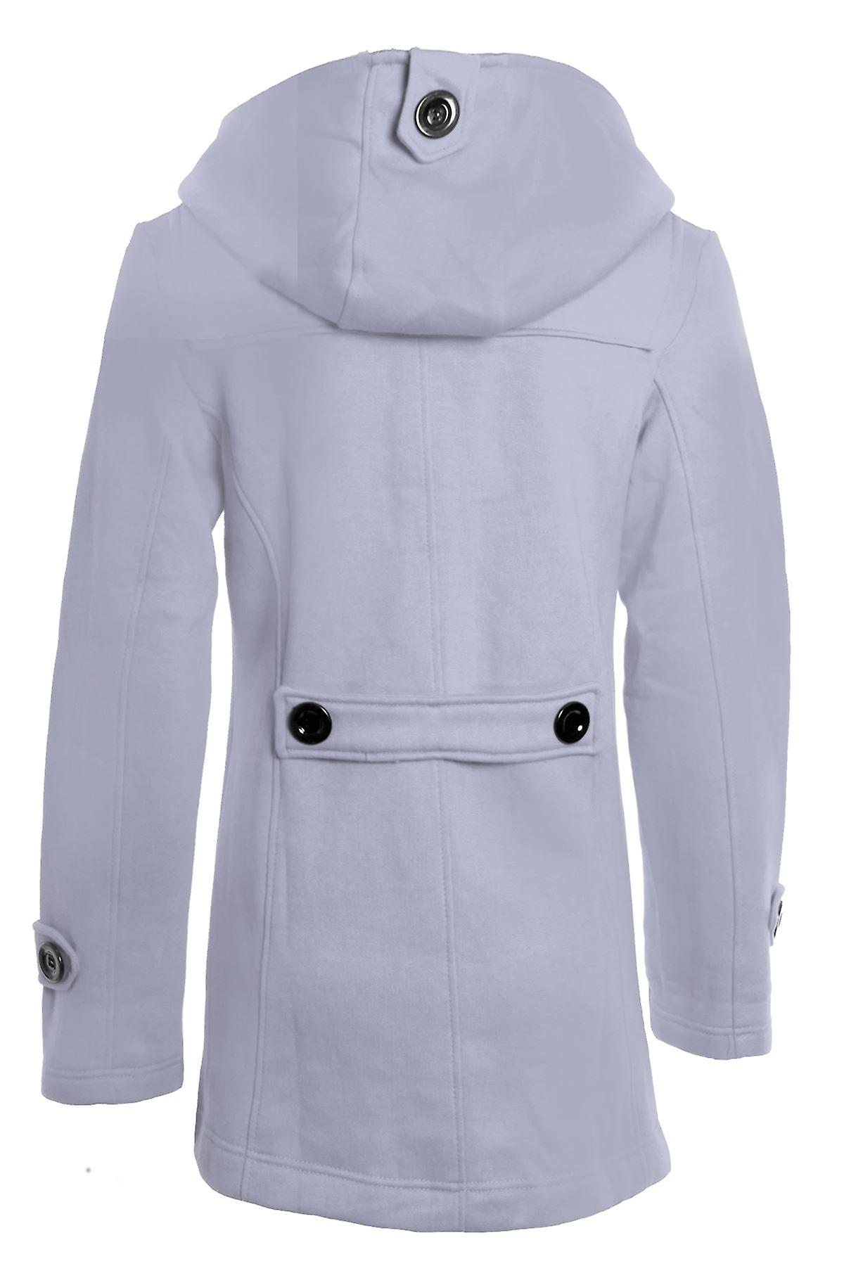 New Women's Duffle Trench Hooded Pocket Ladies Coat Jacket