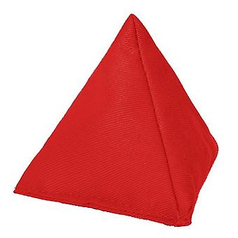 Red Cotton Dreiecks-Jonglier-Backtasche für Outdoor-Spiel