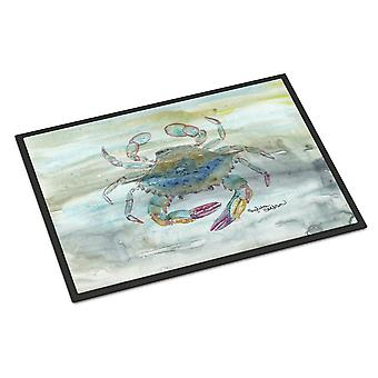 Female Blue Crab Watercolor Indoor or Outdoor Mat 18x27
