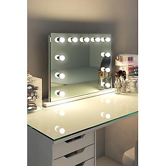 Diamond X Table Top Hollywood make-up spiegel met dimbare LED k95sLED