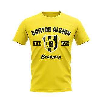Burton Albion Established Football T-Shirt (Yellow)