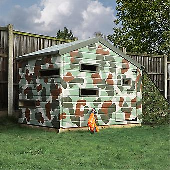 Mercia Hideout 7x5ft Wooden Wendy Playhouse Childrens Garden Room