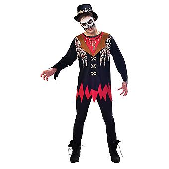 Mens Adultes Sorcière Docteur Halloween Fancy Dress Costume