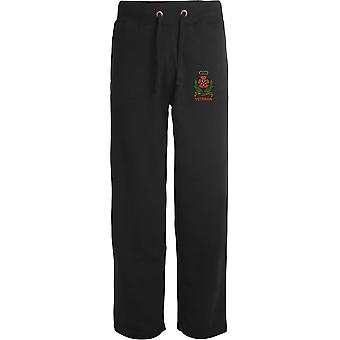 Intelligence Corps Veteran - Licensed British Army Embroidered Open Hem Sweatpants / Jogging Bottoms