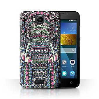 STUFF4 Case/Cover for Huawei Honor Bee/Y5c/Elephant-Colour/Aztec Animal