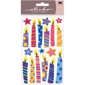 Sparkler Classic Stickers Birthday Candles E5220014