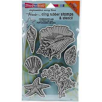 Stampendous Fran's Cling Stamps & Stencils 5