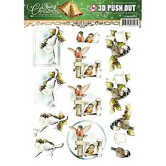 Find It Trading Precious Marieke Punchout Sheet-Spirit Of Christmas SB10118