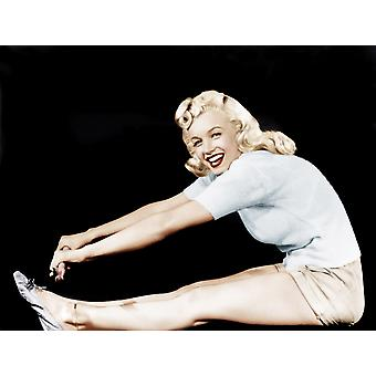 Model And Columbia Starlet Marilyn Monroe Working Out Ca 1948 Photo Print
