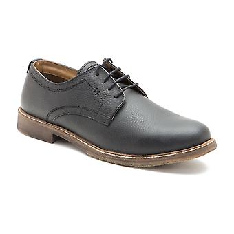 Red Tape Marlow Black Milled Leather Formal Mens Derby Shoes