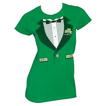Irske Tux St. Patrick's Day dame Graphic Tee Shirt