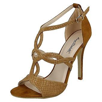 Ladies Anne Michelle Open Toe T-Bar Heels