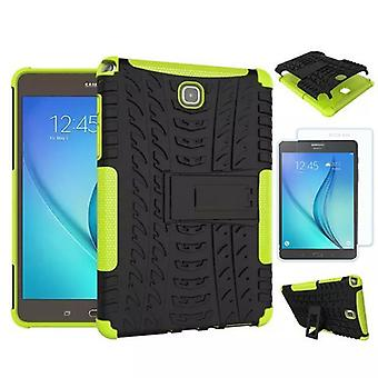 Hybrid outdoor bag Green for Samsung Galaxy tab A 9.7 T550 + 0.4 armoured glass