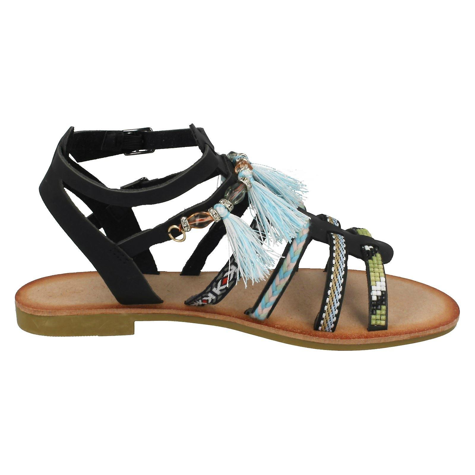 Savannah Beaded Strappy Sandals Ladies Flat F00005 dnfqWP04P