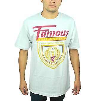 Famous Stars and Straps Eagle Logo Men's White T-Shirt