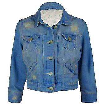 New Look Three Quarter Sleeve Denim Jacket