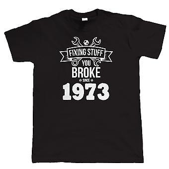 Fixing Stuff Since 1973 Mens Funny T Shirt
