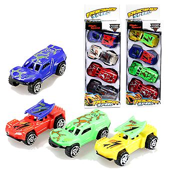 Import Set 4 Coches Speed 7 Cm- Caja 8X25
