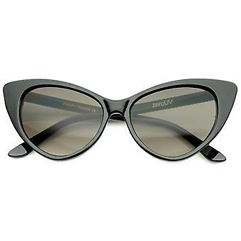 Dame Retro overdimensioneret høj punkt Cat Eye solbriller 55mm